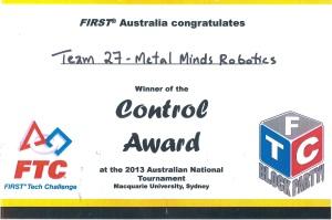 control award